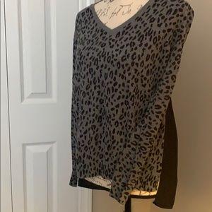 Ann Taylor Loft long sleeve cheetah print top
